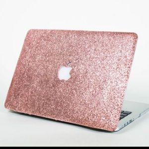 """MacBook Pro 13"""" Glitter Rose Gold Case"""